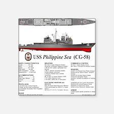 """USS Philippine Sea CG-58 Square Sticker 3"""" x 3"""""""