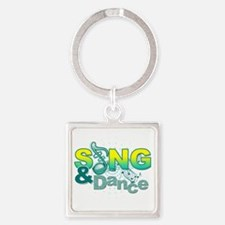 Sing  Dance Square Keychain