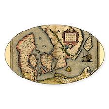 Ortelius's map of Denmark, 1570 Decal