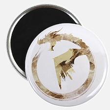 Gold Detailed Logo Magnet