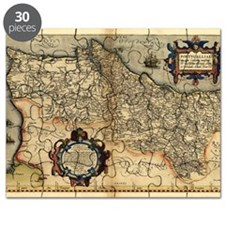 Ortelius's map of Portugal, 1570 Puzzle