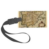 Spain map Luggage Tags