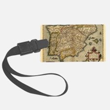 Ortelius's map of Iberian Penins Luggage Tag