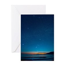 Orion over the Georgia Strait, Canad Greeting Card