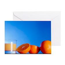 Oranges and orange juice Greeting Card