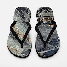 Opencast coal mine Flip Flops