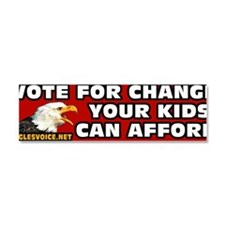 Vote For Change Bumper Car Magnet 10 x 3