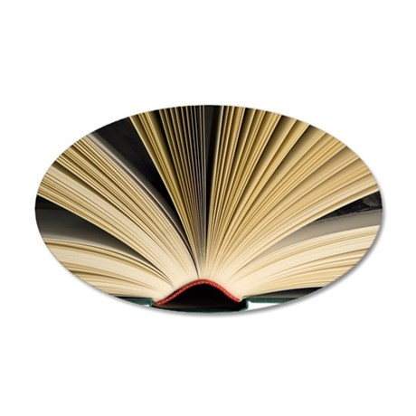 Open book 35x21 Oval Wall Decal
