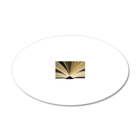 Open book 20x12 Oval Wall Decal