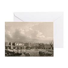 Old London Bridge, 1745 Greeting Card