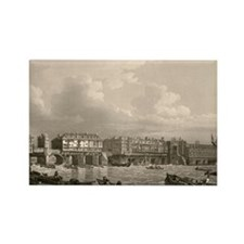 Old London Bridge, 1745 Rectangle Magnet