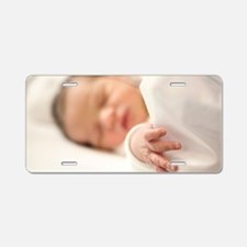 One day old baby girl sleep Aluminum License Plate