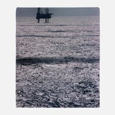 Oil platform Throw Blanket