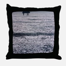 Oil platform Throw Pillow