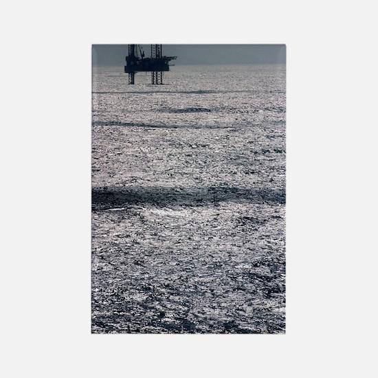 Oil platform Rectangle Magnet