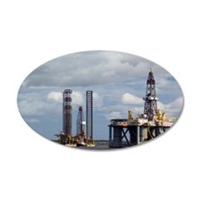 Oil drilling rigs, North Sea Wall Decal