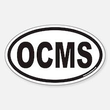 OCMS Euro Oval Decal