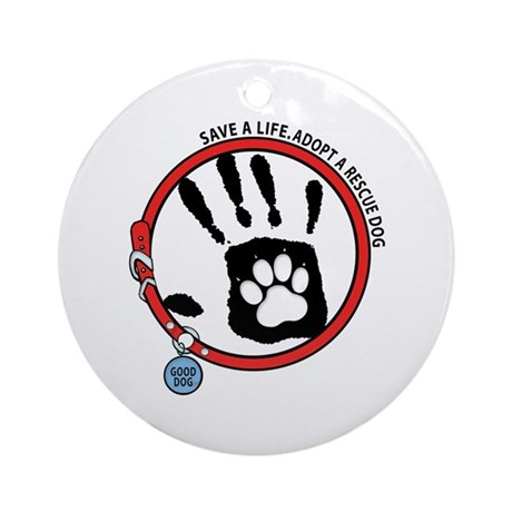 Adopt A Rescue Dog Ornament (Round)