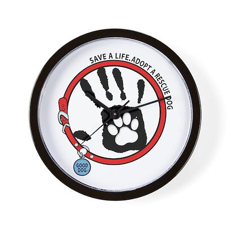 Adopt A Rescue Dog Wall Clock