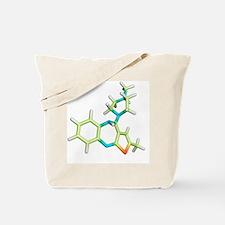 Olanzapine antipsychotic drug molecule Tote Bag