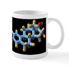 Oestriol hormone, molecular model Mug