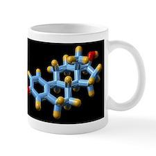 Oestradiol hormone, molecular model Mug
