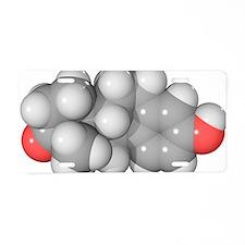 Oestrone hormone molecule Aluminum License Plate