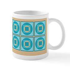 Squares and Circles Teal Mug
