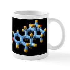 Oestrone hormone, molecular model Mug