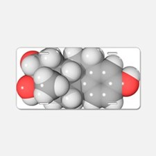 Oestriol hormone molecule Aluminum License Plate