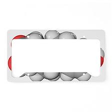 Oestriol hormone molecule License Plate Holder