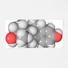 Oestradiol hormone molecule Aluminum License Plate