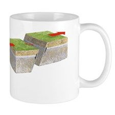 Oblique-slip fault, artwork Small Mug