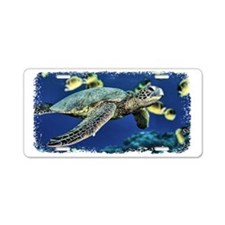 Green Sea Turtle Aluminum License Plate