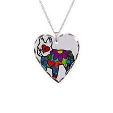 Frenchie Power Necklace Heart Charm