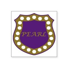 "Omega Pearl Shield Square Sticker 3"" x 3"""
