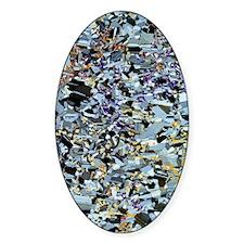 Norite rock, light micrograph Decal