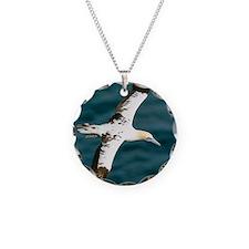 Northern gannet in flight Necklace
