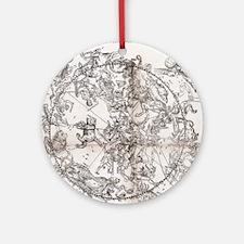 Northern hemisphere star chart, 153 Round Ornament