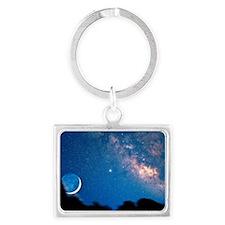 Night sky Landscape Keychain