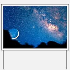 Night sky Yard Sign