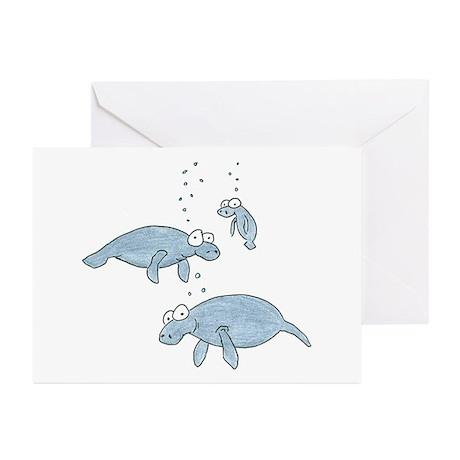 manatees Greeting Cards (Pk of 10)