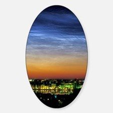 Noctilucent cloud over a city Decal