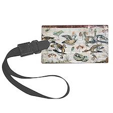 Nile flora and fauna, Roman mosa Luggage Tag