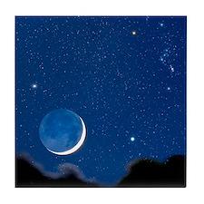 Night sky Tile Coaster