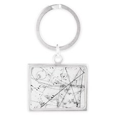 Neutrino particle interaction e Landscape Keychain