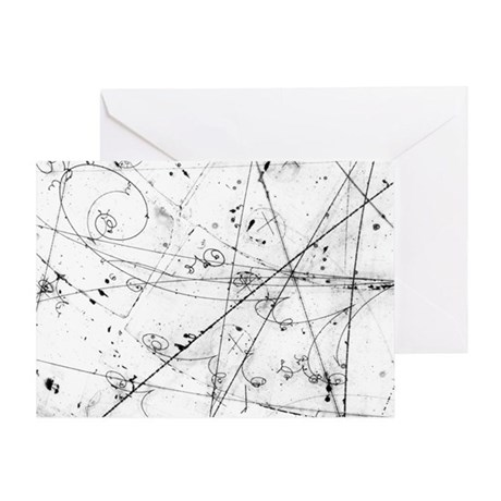 Neutrino particle interaction event Greeting Card