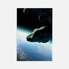 Near-Earth objects, artwork Rectangle Magnet