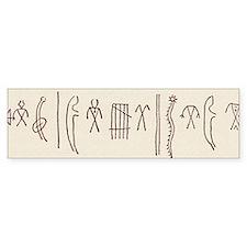 Native American pictogram Bumper Sticker