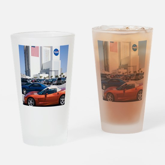 NASA vehicle assembly building Drinking Glass